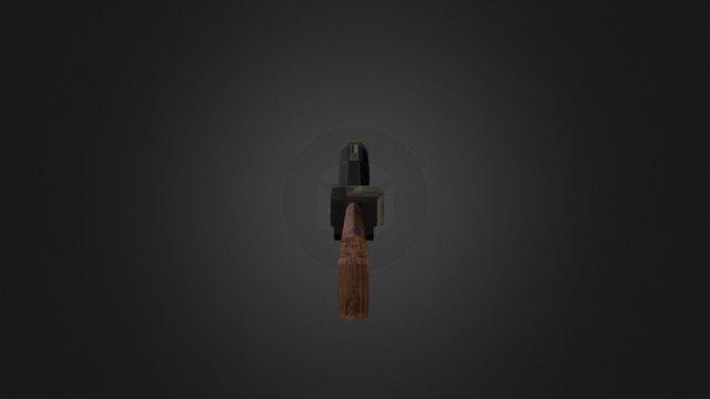 Grenade Launcher Textured Diff 3D Model