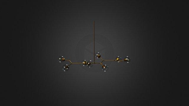 Branch Light 4 3D Model