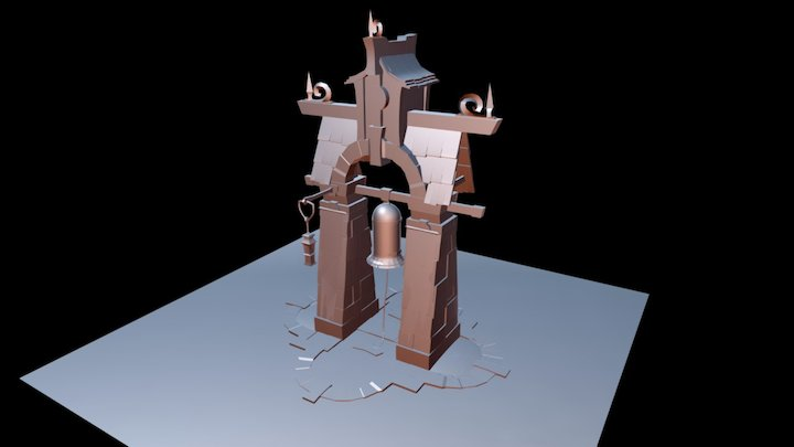Nordic Bell Tower 3D Model