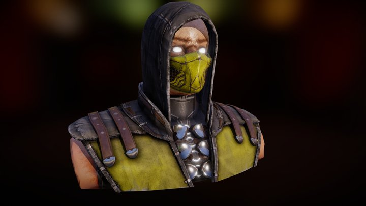 Mortal Kombat X - Scorpion Fan 3D Model