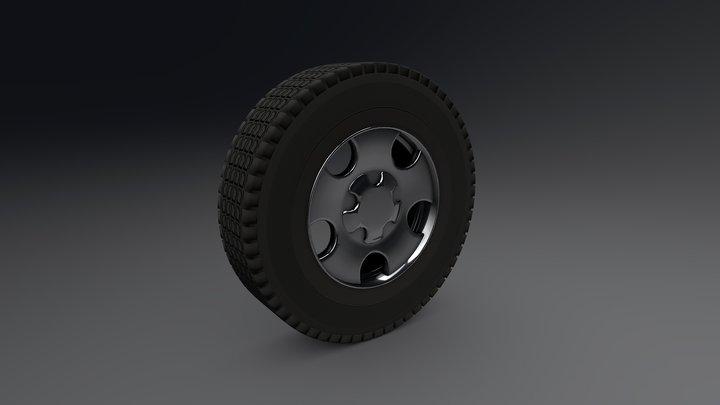Offroad SUV Wheel 3D Model