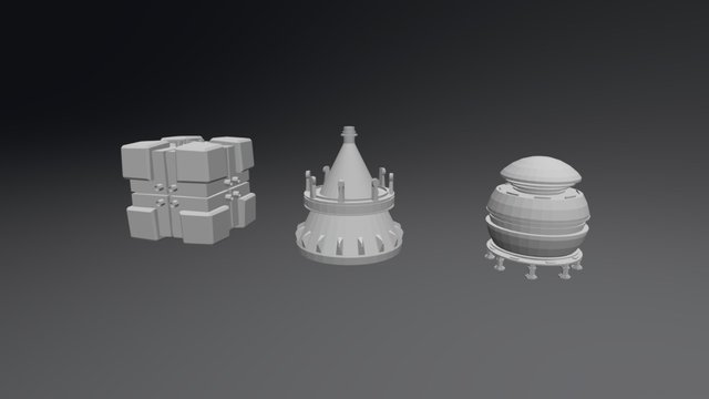 Primitive Objects exercice 3D Model