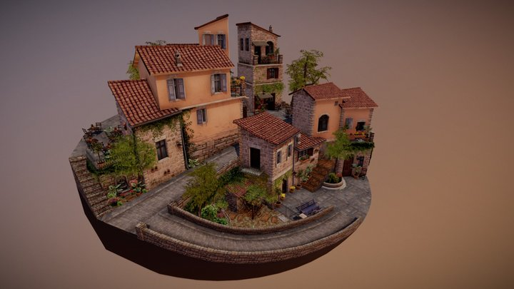 Assisi - City Scene Assignment 3D Model