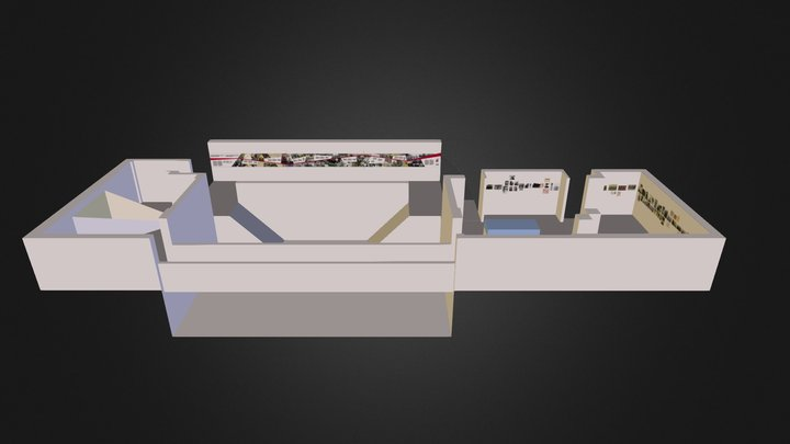 Chinese Veteran Exhibition Layout 3D Model