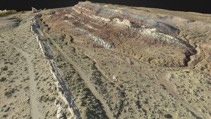 Geology Outcrop - Middle Jurassic at Picún Leufú 3D Model