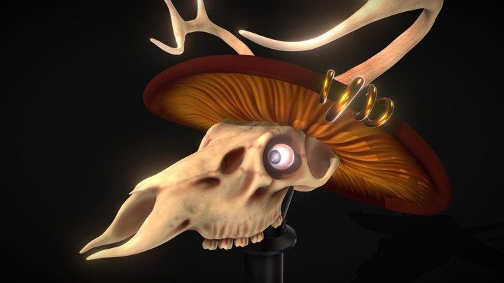 Wendigo Summoning Skull (Adventurer's Camp) 3D Model