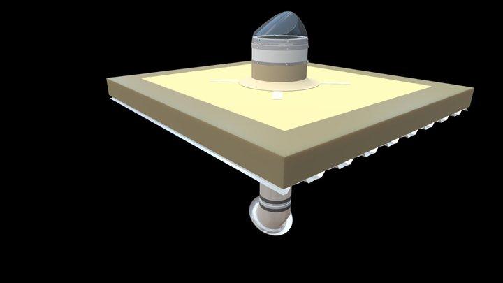 Смонтированный световод SOLARGY SW400-600 3D Model