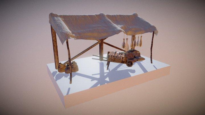Puesto de mercado - Vitoria-Gasteiz 3D Model
