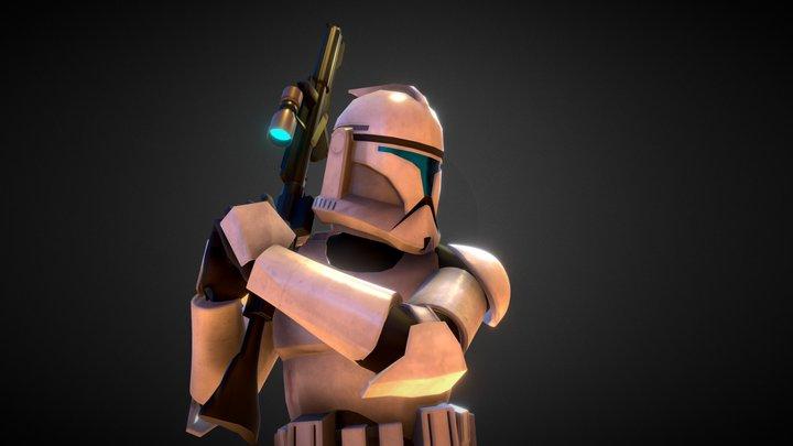 Clone trooper - Phase 1 3D Model