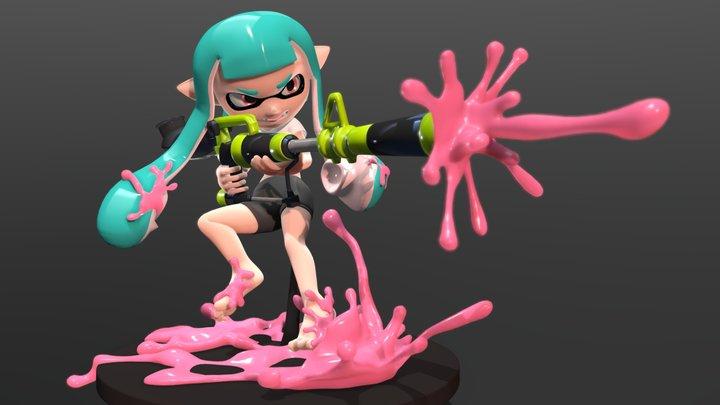 Inkling girl action! 3D Model