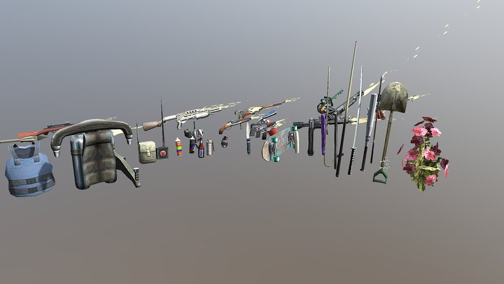 gta san all wheapon 3D Model