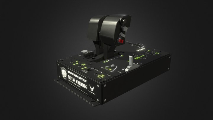 Thrustmaster Warthog Flight Thruster 3D Model
