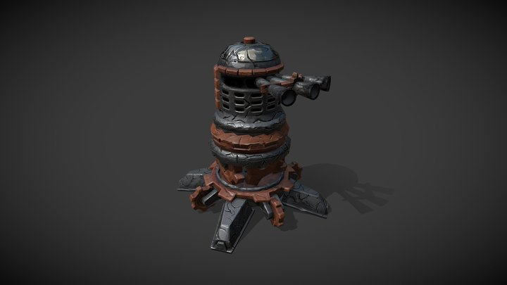 "Stylized game asset ""Turret"" 3D Model"