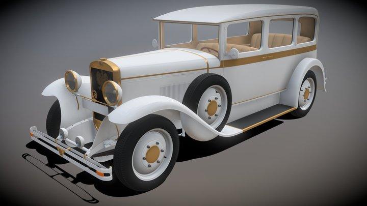 "CWS T-1 ""Kareta"" - Vintage Polish car from 1925 3D Model"
