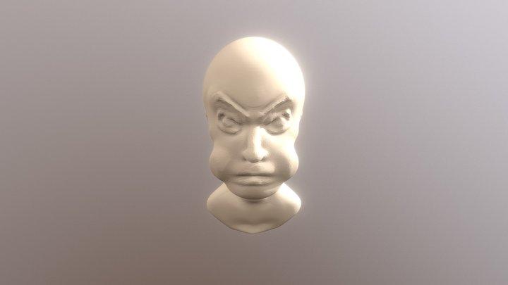#SculptJanuary18 DAY 24 Anger 3D Model