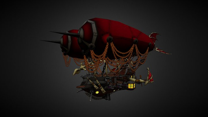 Battle Airship 3D Model
