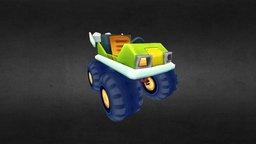 Low Poly Hit Kart 3D Model