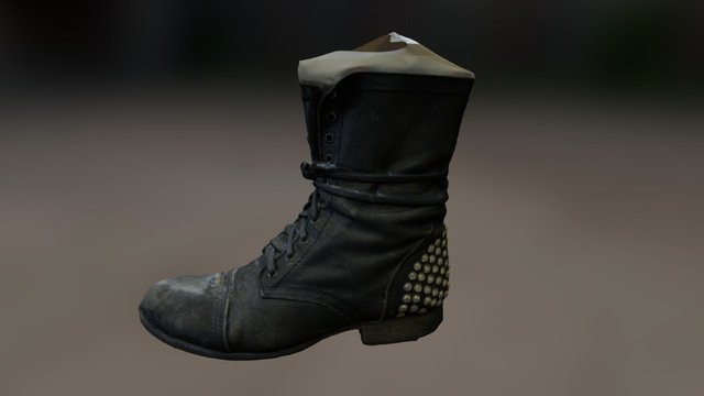 Army Fashion boots 3D Model