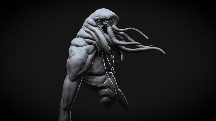 SculptJanuary 2018 | Day 19 | Lovecraftian 3D Model