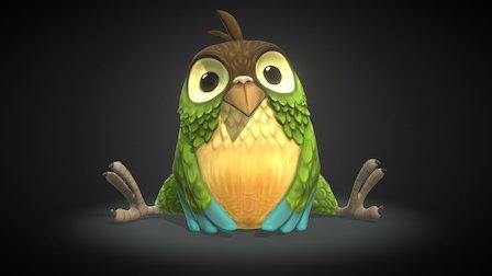 Cartoon Bird WIP 3D Model