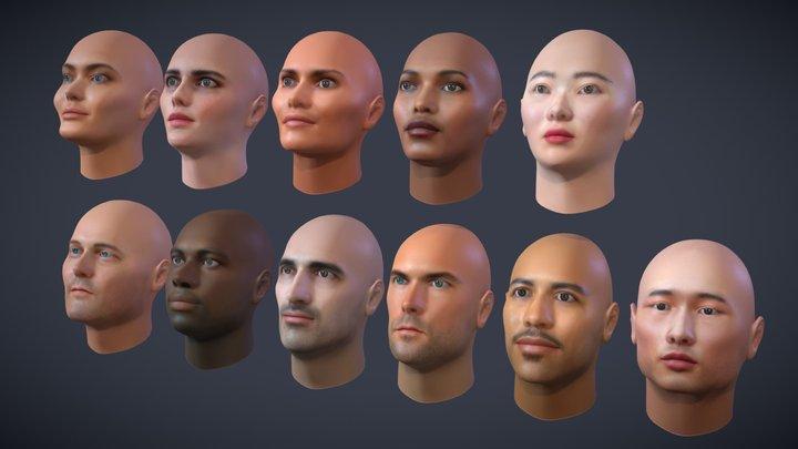 Human Head pack 3D Model