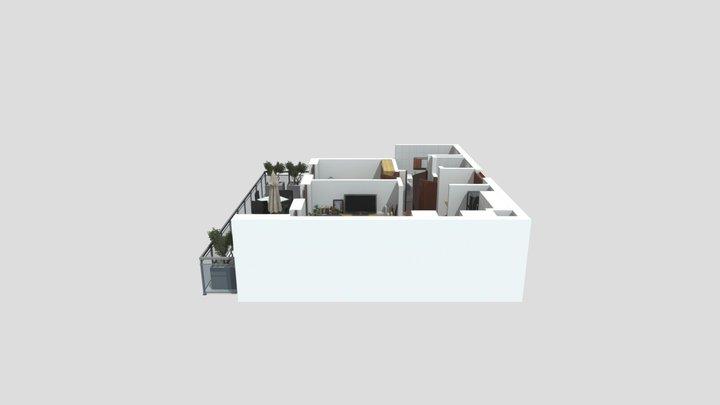 3D Premium floorplan 3D Model