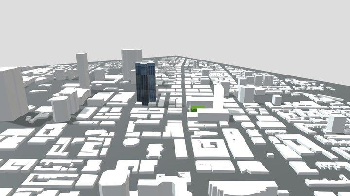 Ville en construction 3D Model