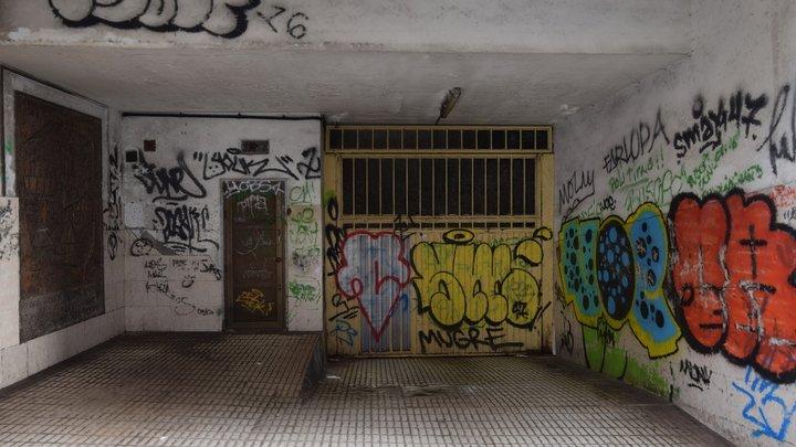 Graffitied garage door photogrammetry scan 3D Model