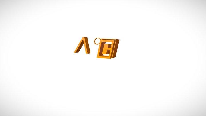 Λ°C logo 3D 3D Model