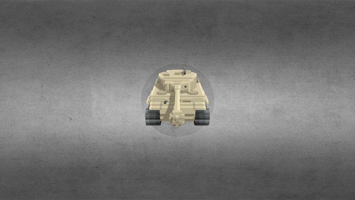 Voxel Tiger I 3D Model