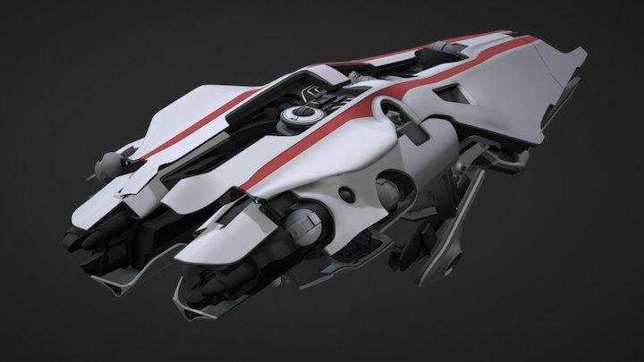 Medium Tactical Cruiser - Akorro - Tier IV 3D Model