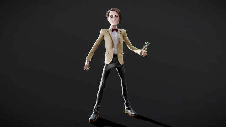 Stylised 11th Doctor 3D Model