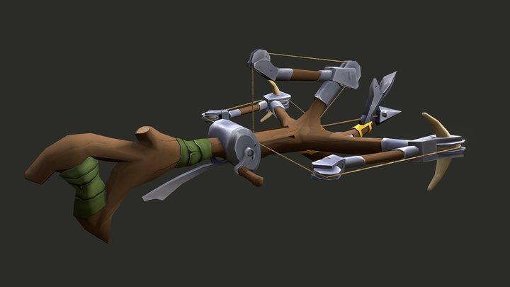 Stylised crossbow 3D Model