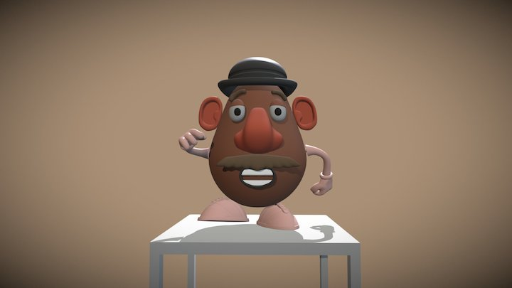 Mr Sweet Potato Head (High Quality) 3D Model