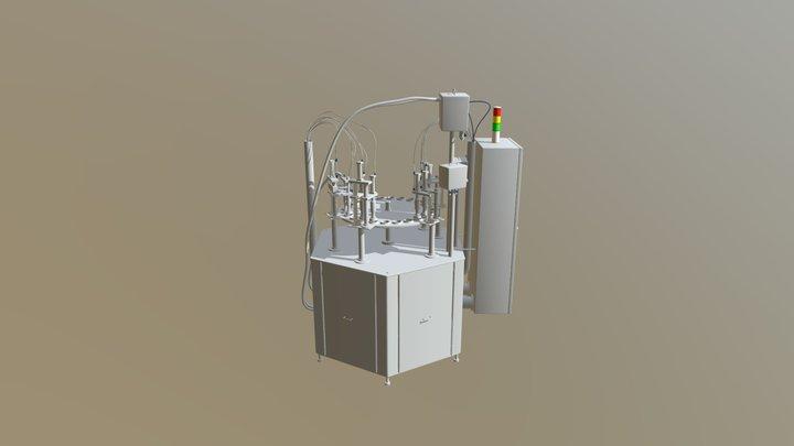 Circular liquid filling machine 3D Model