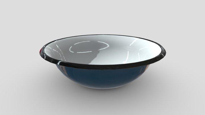 Enamel Bowl 3 3D Model