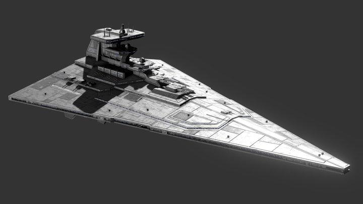 Invictus Class Star Cruiser 3D Model