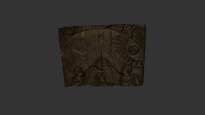 Santa Sabina Door Fragment 3D Model