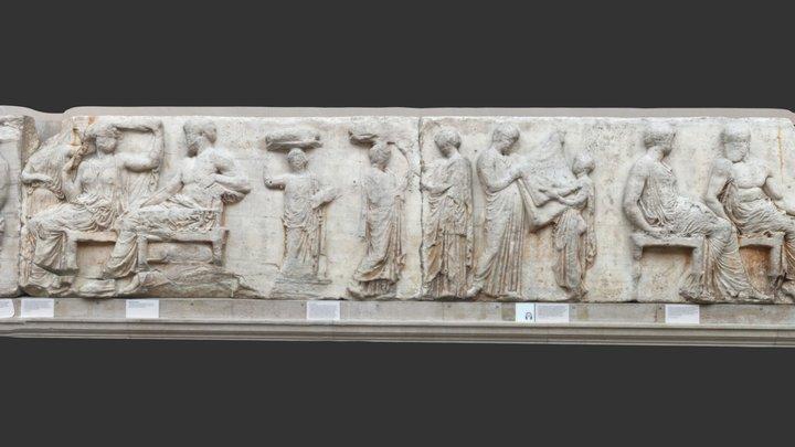 Peplos from Parthenon (Athens) Frieze.3d4aw18 3D Model