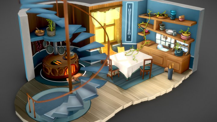 Holle's Kitchen 3D Model