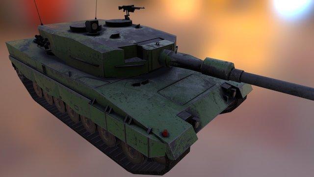 Leopard2A4 3D Model