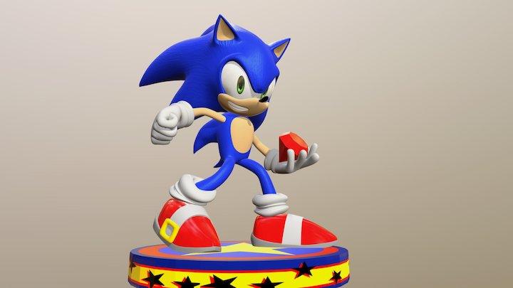 Sonic got a Chaos Emerald 3D Model