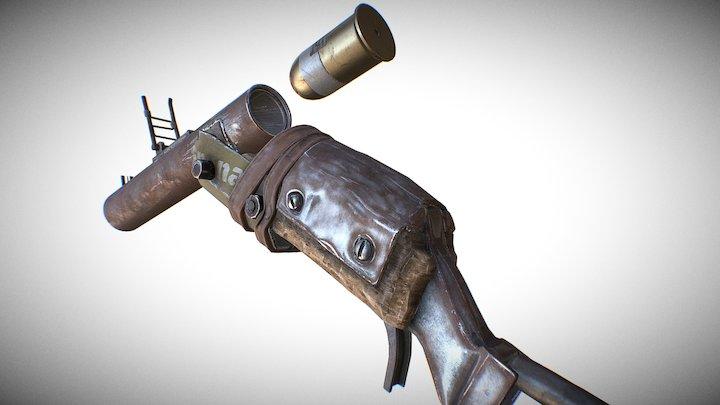 Salvaged Grenade Launcher 3D Model