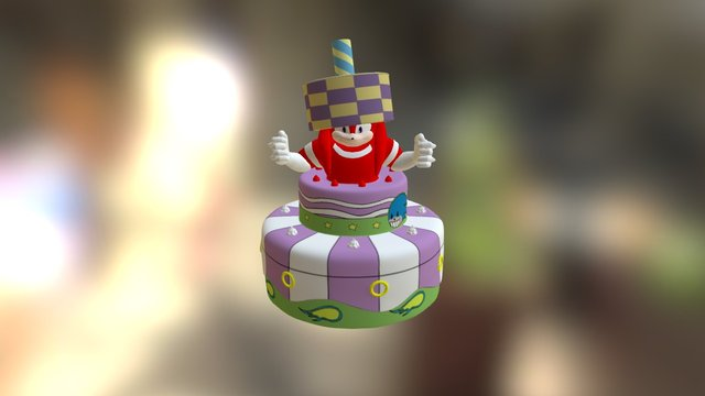 Knuckles In a Cake 3D Model