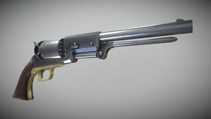 Colt Walker 1847 Revolver 3D Model