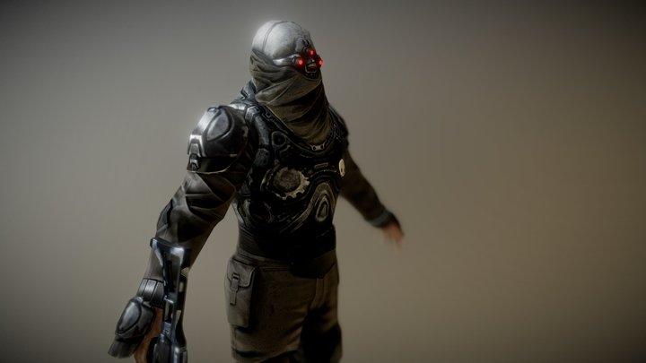 Sci-Fi Trooper 3D Model