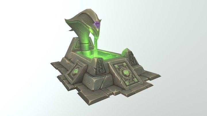 Snake Fountain 3D Model