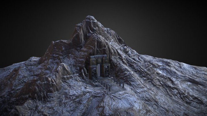 Gate to mountain 3D Model