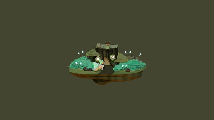 Fantasy garden- Final render 3D Model