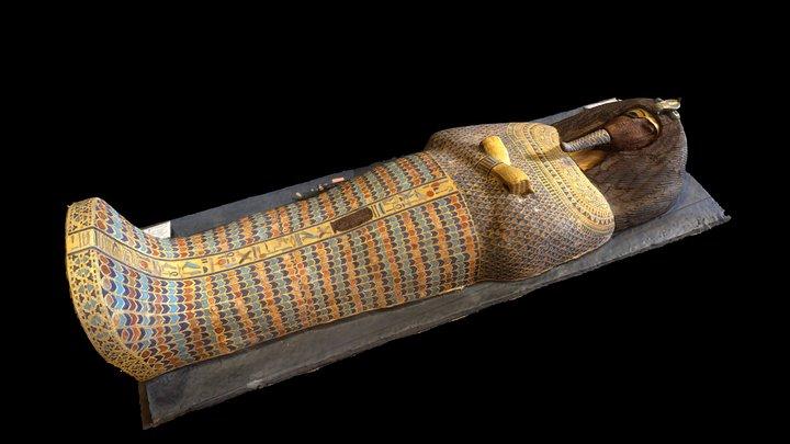 Coffin of Akhenaten, Tomb KV55 3D Model